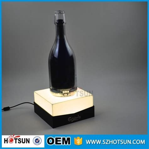 Single Wine Bottle Holder led single acrylic wine bottle holder with sign