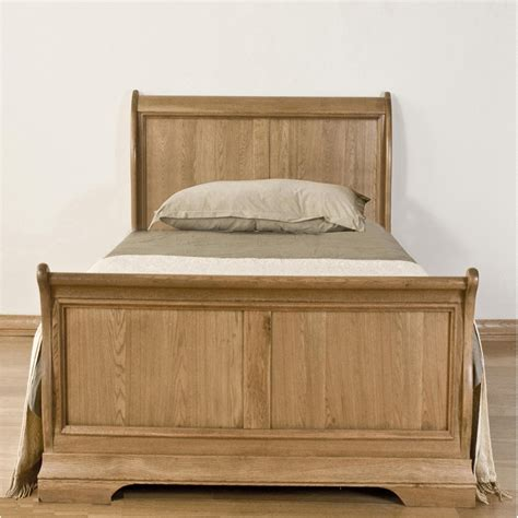Oak Sleigh Bed Toulon Solid Oak Furniture 3 Single Bedroom Sleigh Bed Ebay
