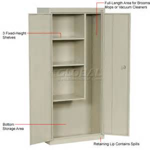 Janitorial Storage Cabinet Cabinets Janitorial Sandusky Classic Series Janitorial Storage Cabinet Vfc1301566 30x15x66