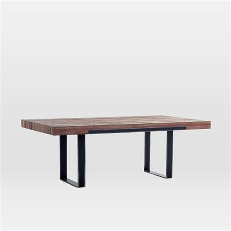 rustic patina dining table west elm dining pinterest
