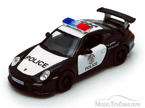 porsche toy car 2010 porsche 911 gt3 rs police black kinsmart 5352dp