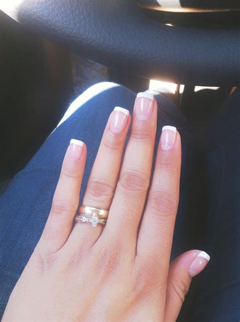 imagenes de uñas blancas con azul manicure franc 233 s u 241 a punta blanca nails u 241 as pinterest