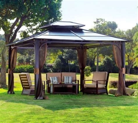 metal framed gazebo with sides nucleus home