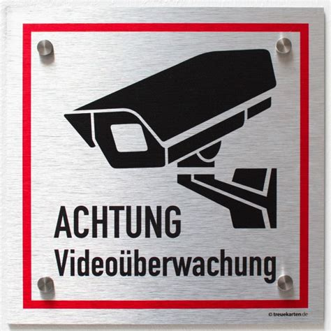 Aufkleber Auto Video Berwacht by Video 252 Berwacht Schild Silber Warnschild Alu Verbund 3mm