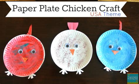 paper plate chicken craft chicken hen paper plate craft fspdt