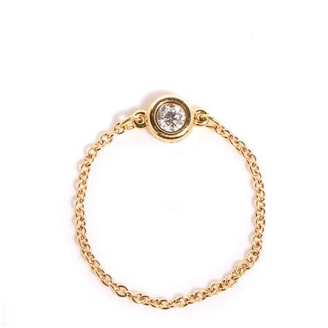 co 18k yellow gold elsa peretti diamonds