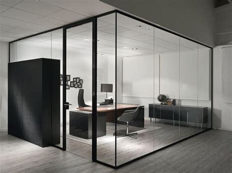 67 wall street front desk office partition partition wall spark by sinetica