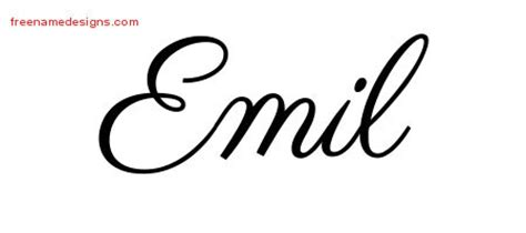 tattoo ideas for the name emile emil archives free name designs