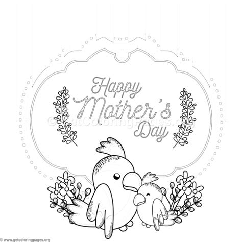 mothers day coloring card template parrot s day card coloring pages