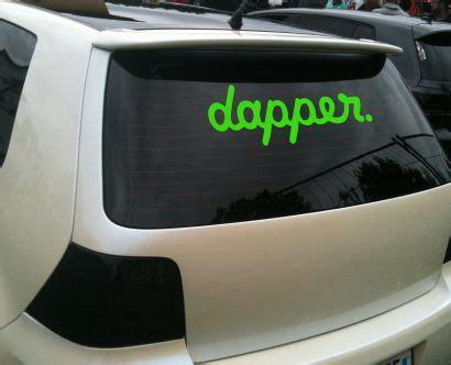 Dapper Aufkleber Auto Bedeutung by Dapper Aufkleber Und Tuning Sticker F 252 R Die Frontscheibe