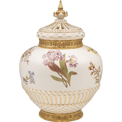 Potpourri Vase by Royal Worcester Potpourri Vase Liner And Cover 1889 From