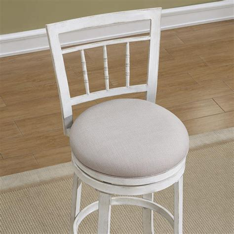 Antique White Swivel Counter Stools by Palazzo Swivel Counter Stool Antique White Woven Fabric