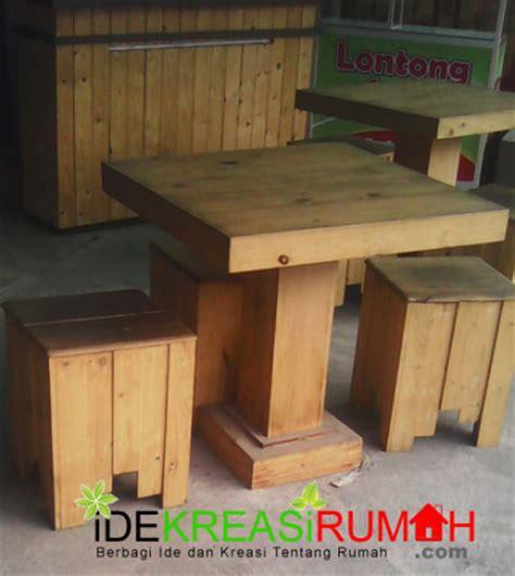 Kayu Untuk Membuat Kursi percantik cafe anda dengan kursi kayu kotak minimalis ide kreasi rumah