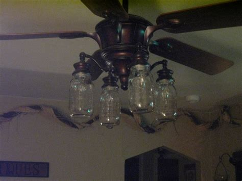 hunter mason jar ceiling fan mason jars for your ceiling fans too for the home
