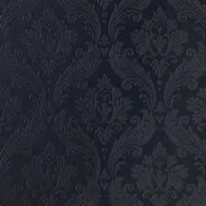 vintage black designer damask wallpaper vintage flock in black images hosted at biggerbids