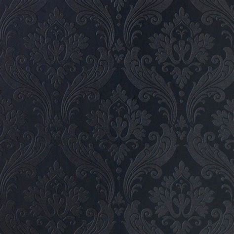 wallpaper black vintage designer damask wallpaper vintage flock in black