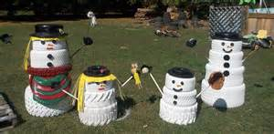 Car Tires Decoration Hometalk The Snowman Family Made From Tires