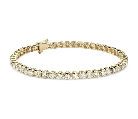 1 Ct Tw Tennis Bracelet by Tennis Bracelet In 18k Yellow Gold 5 Ct Tw