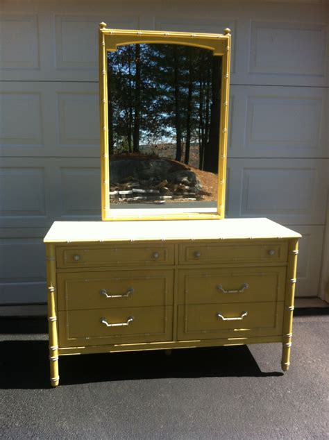Thomasville Faux Bamboo Dresser by Painted To Order Vintage Thomasville Faux Bamboo Dresser