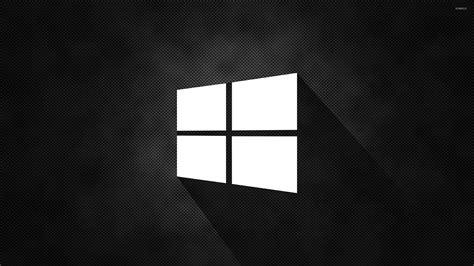 wallpaper black windows 10 windows 10 simple white logo on black wallpaper computer
