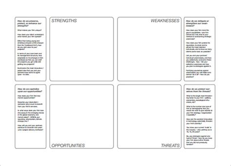 Swot Analysis Template 47 Free Word Excel Pdf Ppt Best Swot Analysis Template