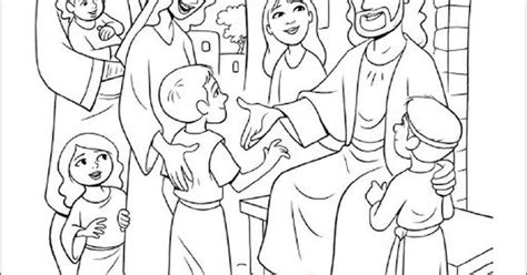 jesus blesses the little children coloring pages