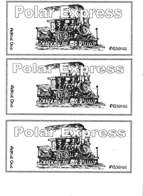 printable minivan express tickets 20 polar express coloring pages coloringstar