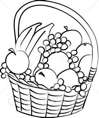 sketchbook untuk gingerbread vegetables clipart basket drawing pencil and in color
