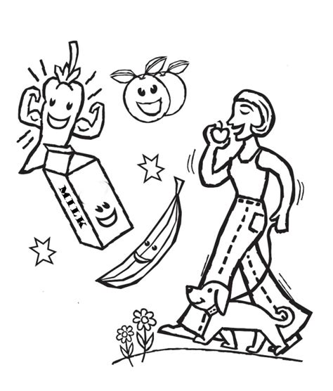 healthy food coloring pages az coloring pages