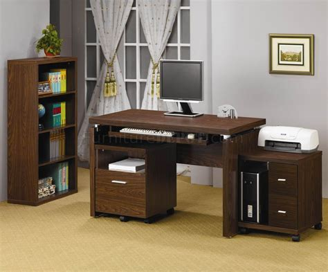 Desk Home Office Oak Finish Modern Home Office Desk W Optional Items