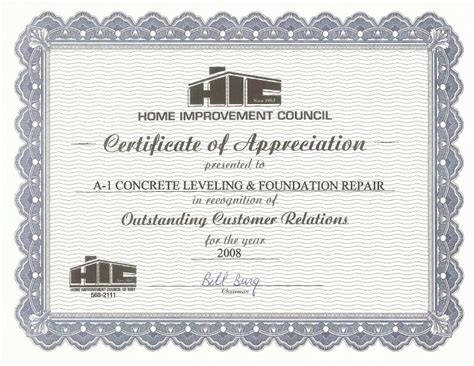 home improvement council outstanding customer service