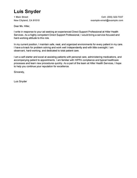 who to direct a cover letter to best direct support professional cover letter exles