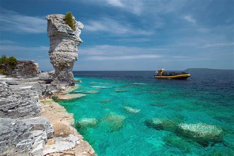 glass bottom boat ride tobermory 2018 bruce peninsula and fathom five national marine park