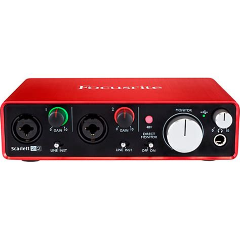 Focusrite 2i2 2nd Audio Interface focusrite 2i2 2nd usb audio interface musician s friend