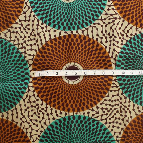 Teal And Brown Upholstery Fabric by Record Ankara Fabric Brown And Teal 1 Yard Urbanstax