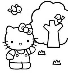 kitty coloring color kitty kids network
