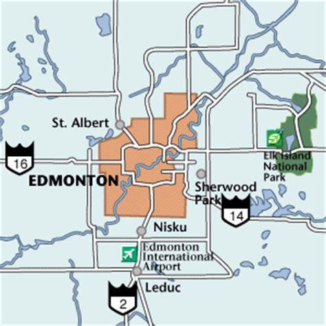 Edmonton Maps Area And City Street Maps Of Edmonton