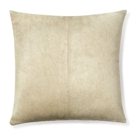 Hide Pillows by Solid Hide Pillow Cover Pearl Williams Sonoma