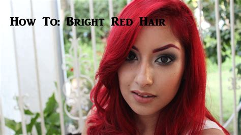 tutorial on how to get bright red hair without bleaching how to get bright red hair youtube
