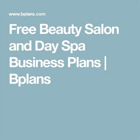 day spa business plan template 17 best ideas about business plan sle on a