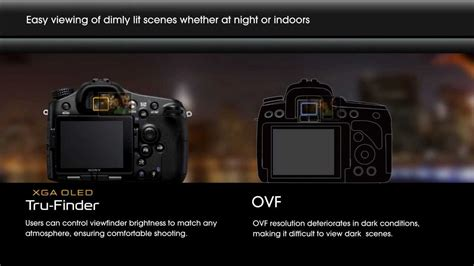 Tru Finder Sony Alpha Tru Finder Evf Vs Traditional Ovf