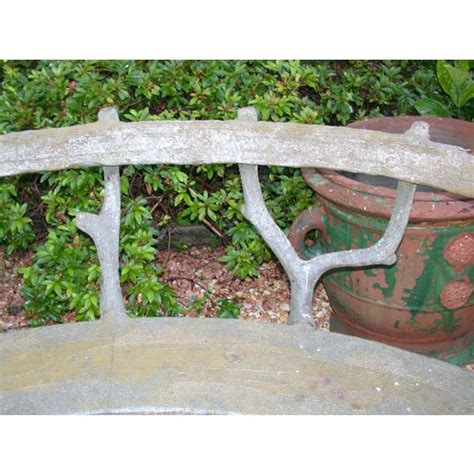 curved cement bench curved tree branch cement garden bench at 1stdibs