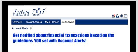 section 705 federal credit union account alerts section 705 fcu