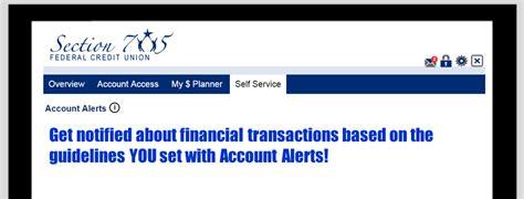 section 705 credit union account alerts section 705 fcu