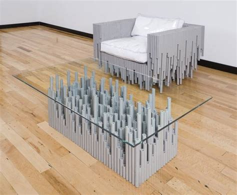 Pvc Kitchen Furniture Designs Artistic Furniture Created From Recycled Pvc Conduits Is Simply Amazing Green Diary Green