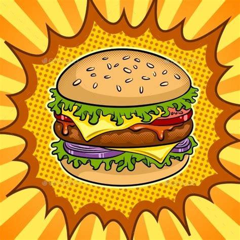 burger sandwich pop art vector illustration idees pour