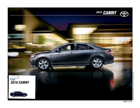 Toyota Camry Brochure 2010 Toyota Camry Brochure