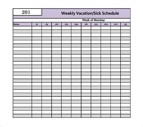 Holiday Schedule Template 11 Free Word Excel Pdf Documents Download Free Premium Templates Vacation Schedule Template Excel