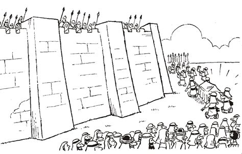 free coloring pages of jericho walls