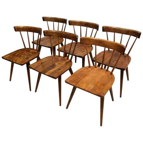 maple dining room chairs set of six 1950s paul mccobb planner group maple dining